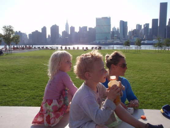 Long Island City - not a bad place for soccer, frisbee and lunch