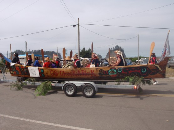 Quileute Indian Festival, canoe dry run