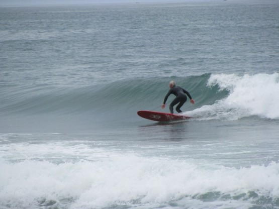 Cold but sweet - Gerry at Manhattan Beach / Point Arena