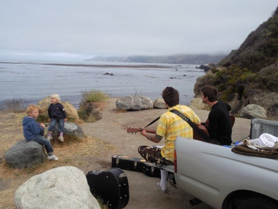 Dillon and Mike grooving for Robinson and Sienna on the Big Sur ocean
