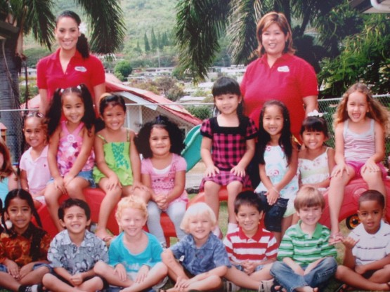 Robinson's preschool friends