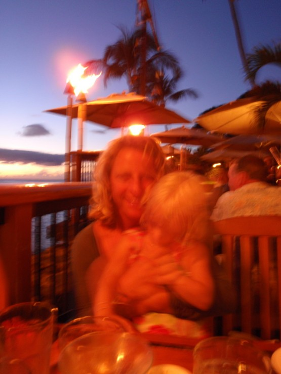 sunset cocktails and fish at Kimo's in Lahaina