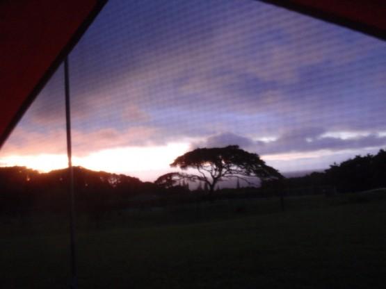 Der Blick aus meinem Zelt