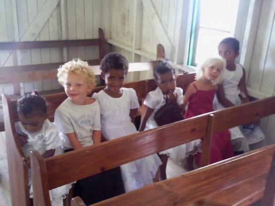 Kids enjoying Sunday morning church