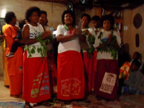 Singing beautiful fiji songs for us
