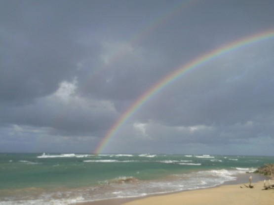 Rainbow over Spreckelsville beach