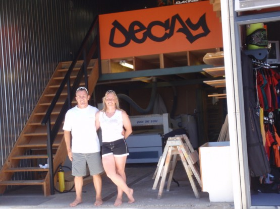 Dave and Sue from Decay kiteboards in Ruakaka