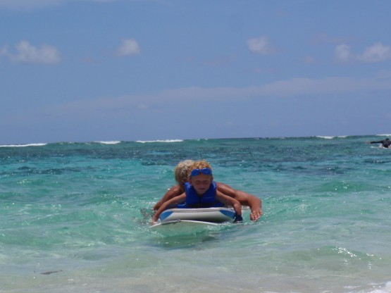 Robinson surfing with Daddy