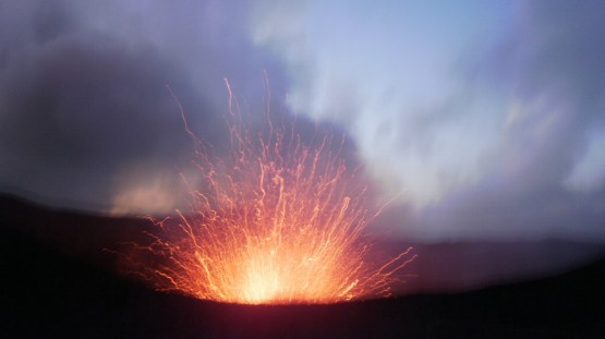 the most impressive firework I have ever seen (photo courtesy of Xenia Aurora Corvin who we met on our trip to Tanna)