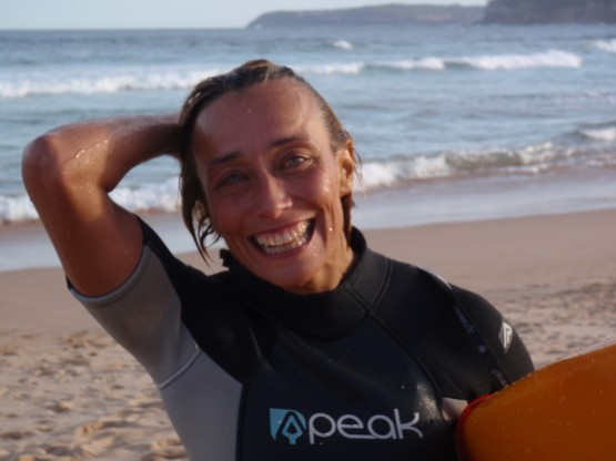 a big smile after a great surf session