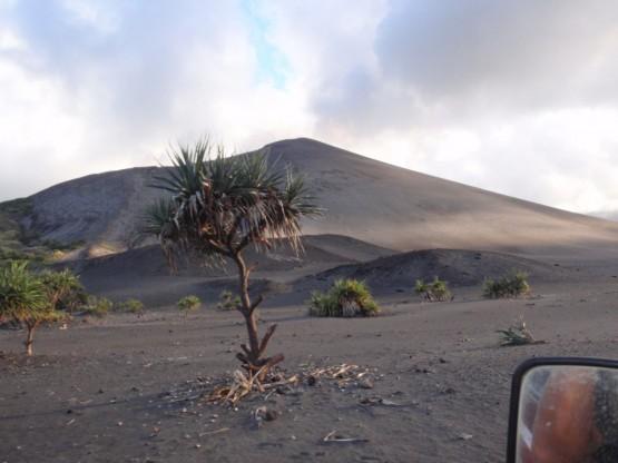 racing around the volcano