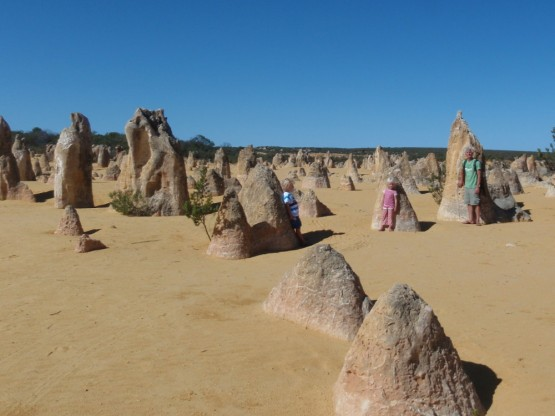Pinnacles right next to the ocean