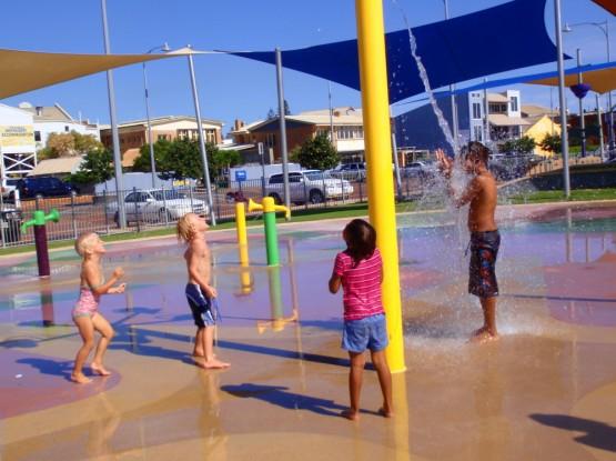 Water fun with Aboriginal kids