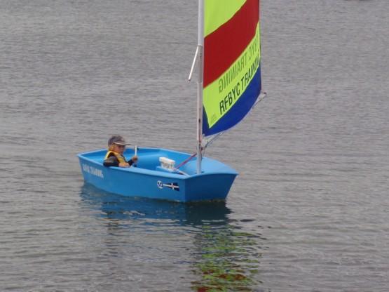 Robinson sailing his first tack