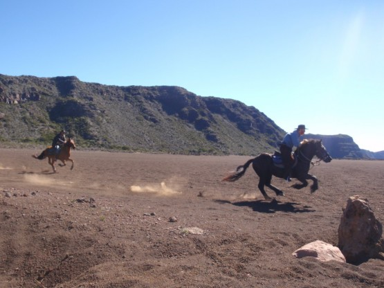 Horse riding at the volcano