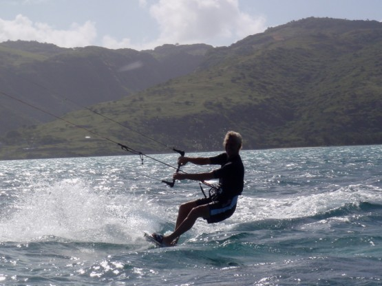 Gerry enjoying the ride to Ile aux chats