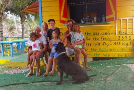 Happy kids: left to right Ocean, Sienna, Robinson, Lion, Rainbow