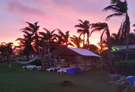 Last light at our Inchcape Seaside Villas site