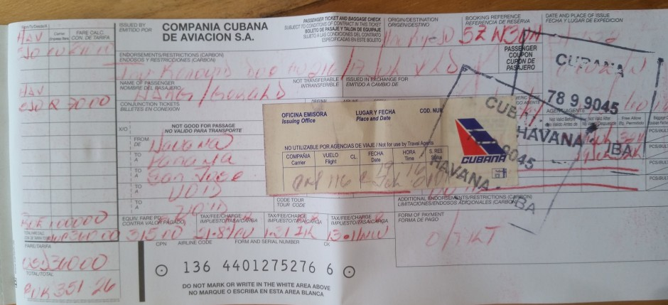 cubana ticket