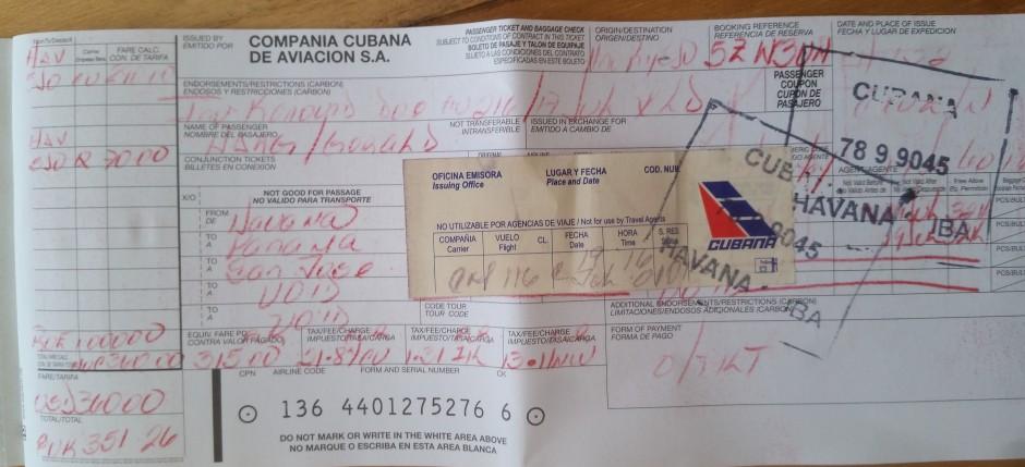 cubana ticket
